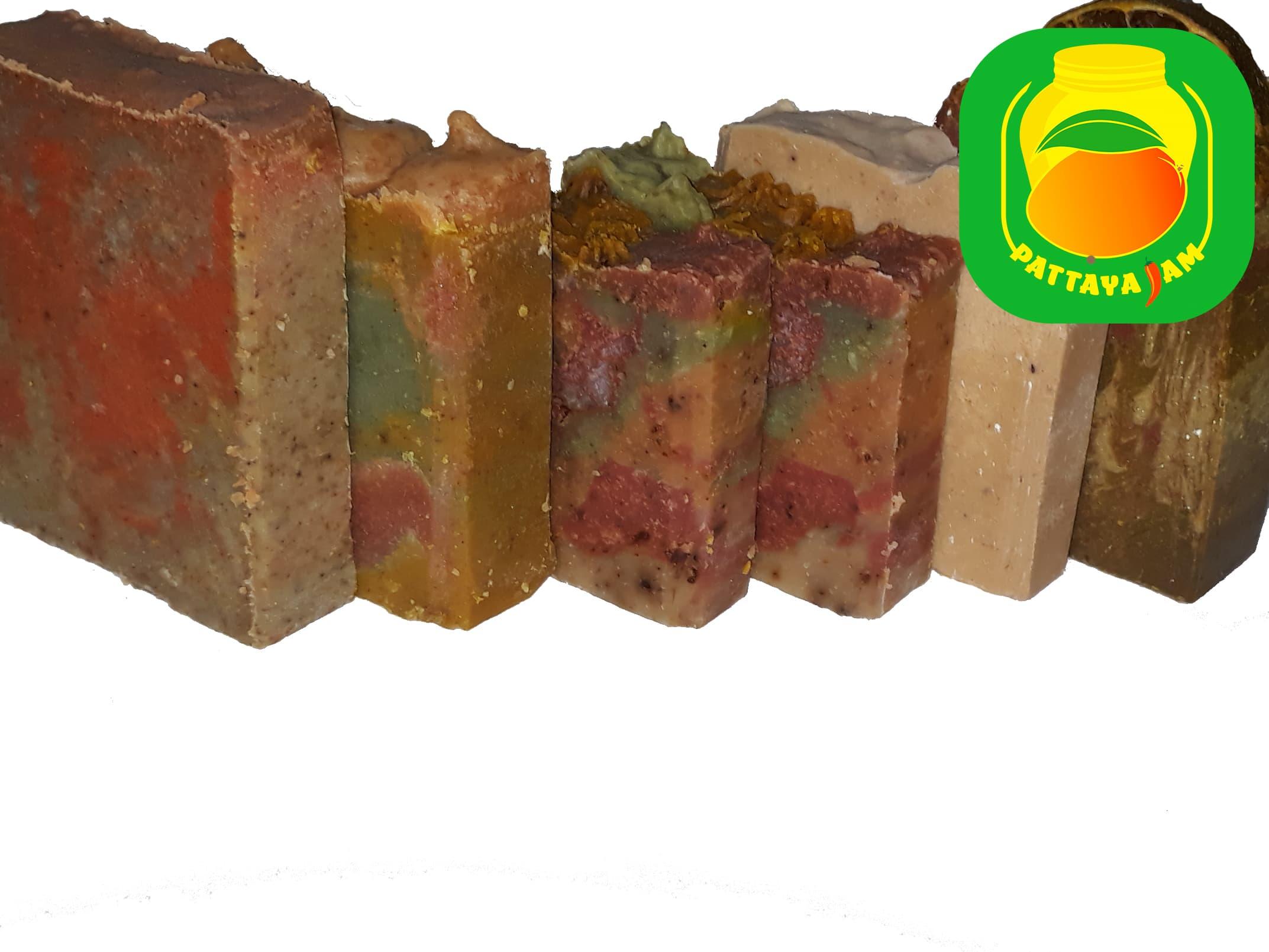 Шелковое мыло скраб из тайских фруктов, ручной работы, с нуля в Паттайе.