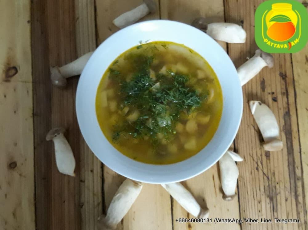 Грибной суп с картофелем. Суп дня - воскресенье.