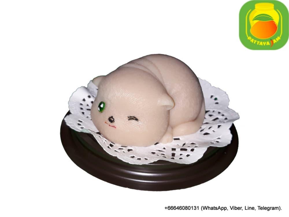 Мыло ручной работы кот №3, упаковка подарочный купол, в Паттайе.