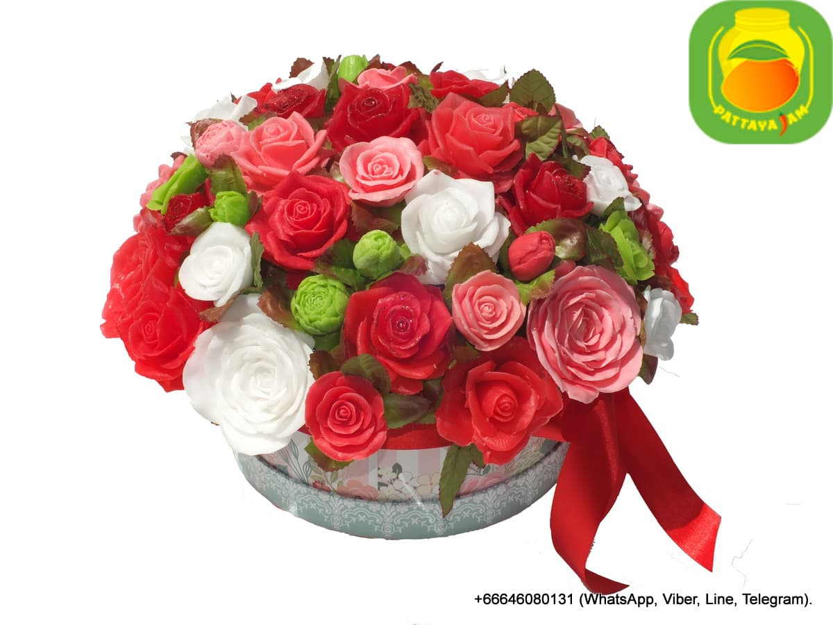Громадный букет роз из мыла ручной работы, в Паттайе. Композиция № 1.