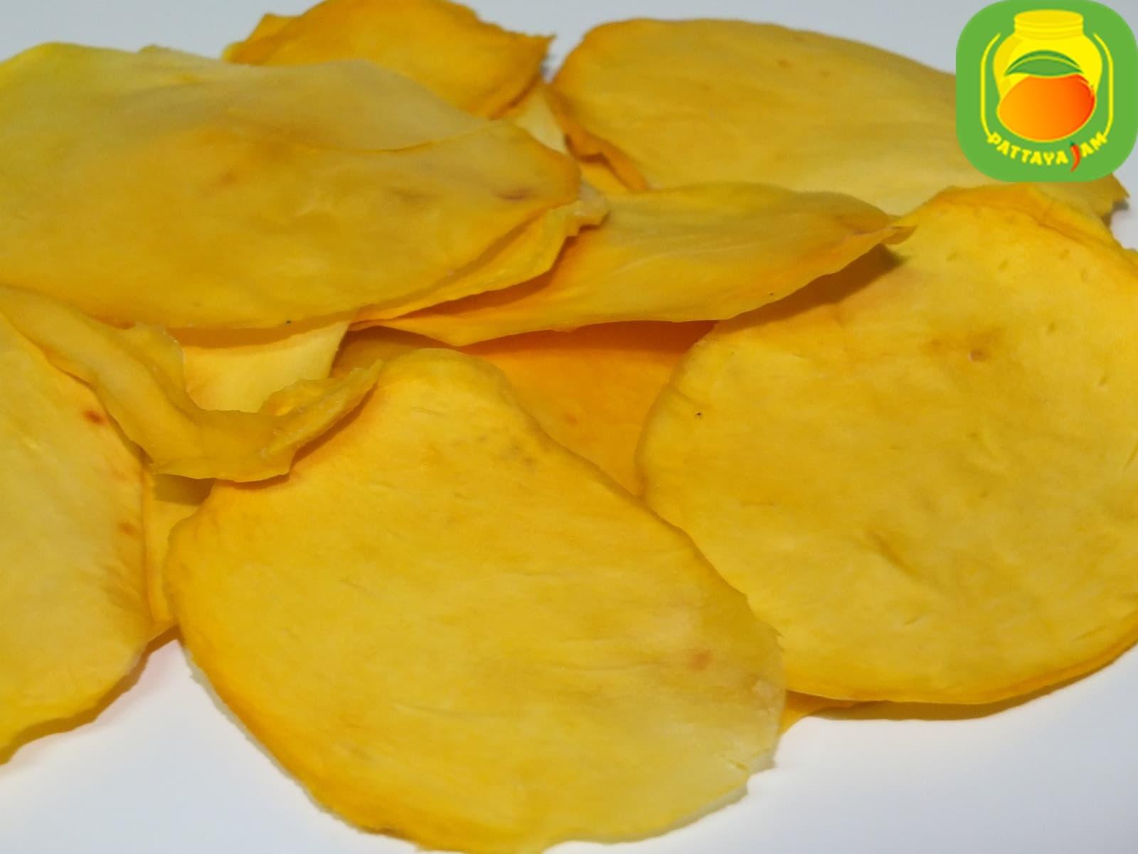Вяленый или сушеный тонкий манго - чипс, без сахара